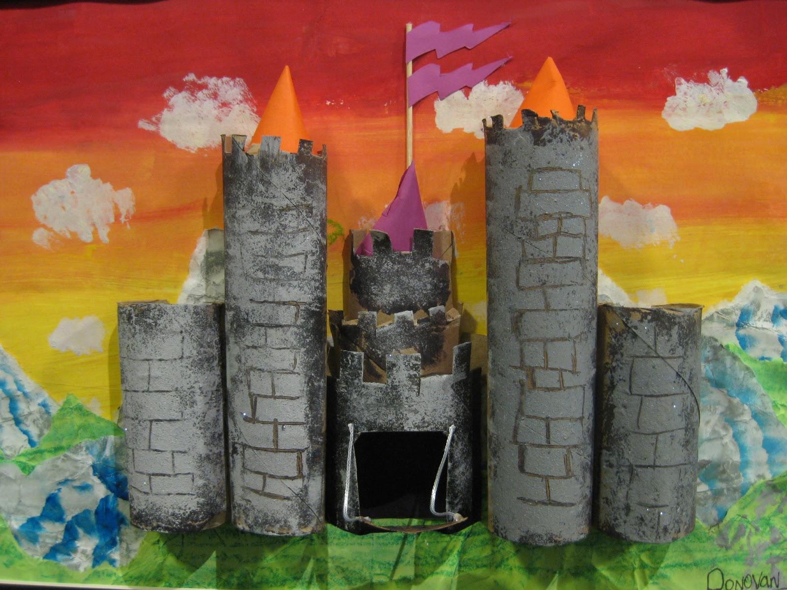 Cassie stephens in the art room totally tubular castles for Toilet paper tube art
