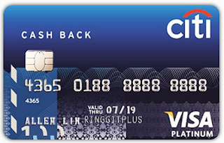 Citibank Cash Back Platinum Credit Cards