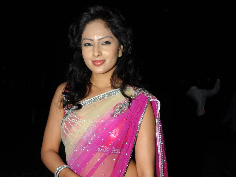 Nikesha Patel Hot Saree Pics at event