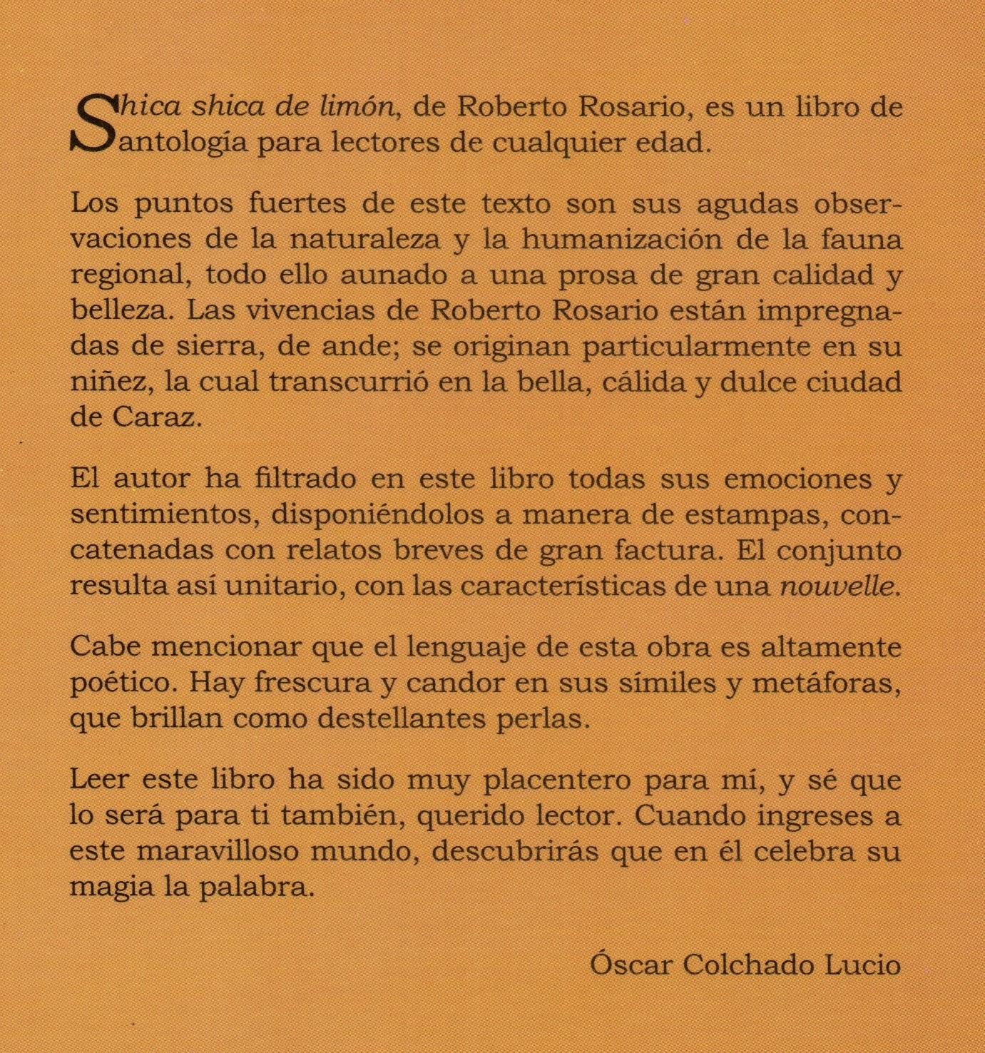 Nueva ediciòn de SHICA SHICA DE LIMON de Roberto Rosario | El MUKI ...