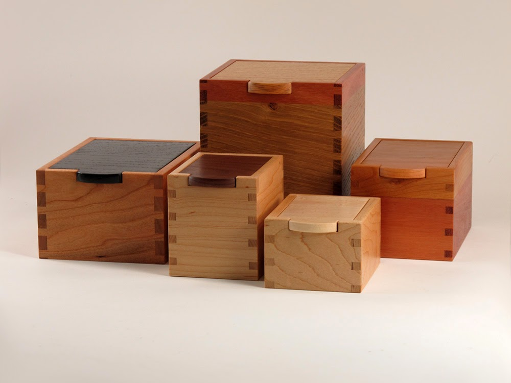 5 Small Keepsake Boxes using hardwoods