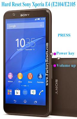 Hard Reset Sony Xperia E4 (E2104E2105