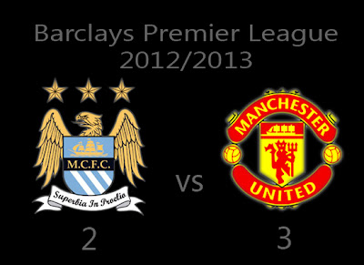 Manchester City v Manchester United Result Barclays Premier League
