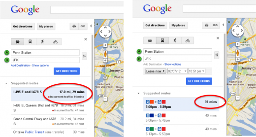 Anggaran Trafik Pada Google Maps