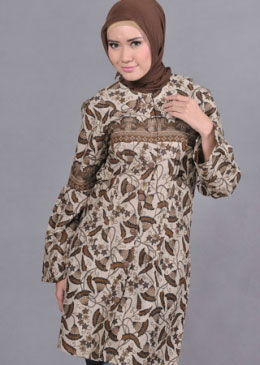 batik wanita muslim terbaru model baju batik wanita muslim terbaru