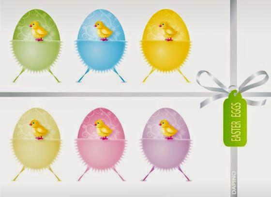Easter PSD eggs