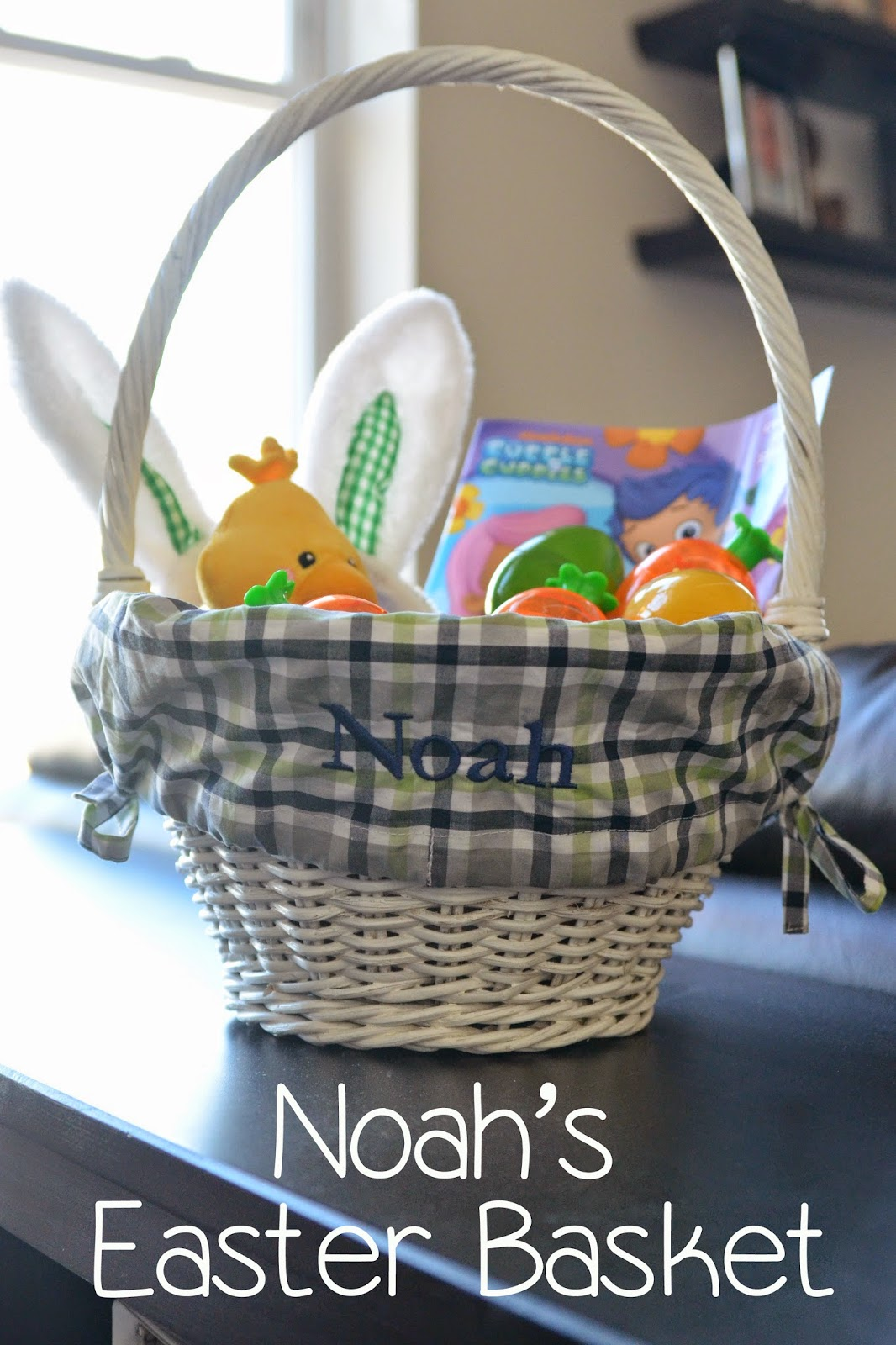The adventure starts here noahs easter basket both sets of grandparents got noah easter baskets filled with goodies since noah was only 4 12 months old he was limited to stuffed animals and toys negle Gallery