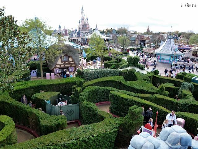 Vu sur le labyrinthe d'Alice aux pays des merveilles.