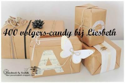 Verrassings bedank candy op het blog van Liesbeth