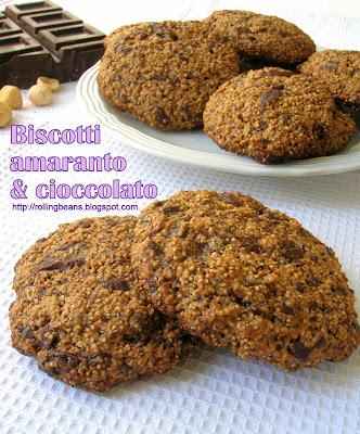 biscotti con amaranto e cioccolato (ricetta vegana)