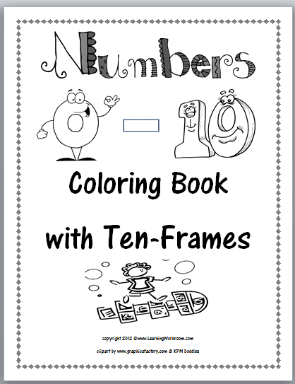 Printable Coloring Number Book
