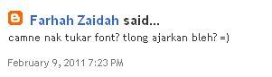 Tutorial, Tutorial Blog, Tutorial Tukar Font, Font Blog, Font Comel, Font Blogger