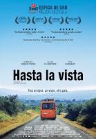 Cartel de la película 'Hasta la vista', de Geoffrey Enthoven, con Tom Audenaert y Gilles De Schrijver. Making Of. Cine