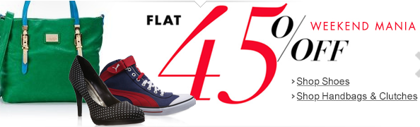 Weekend Mania : Buy shoes and handbag at flat 45% off | Amazon