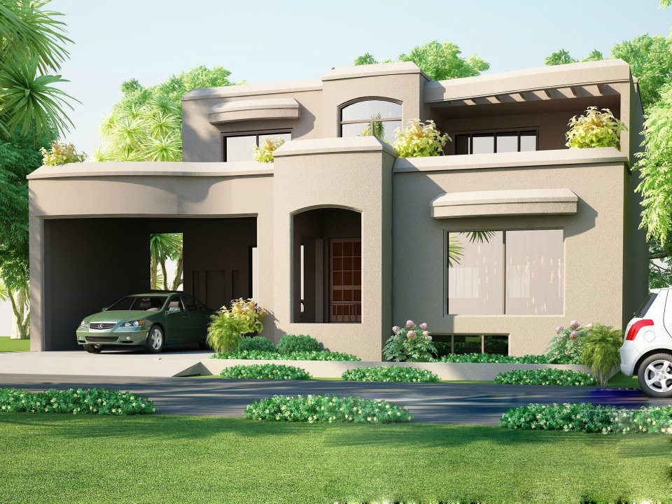 ... Plot @ House Design 3D front Elevation Of House in Lahore Pakistan