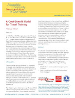 A Cost Benefit Model for Travel Training