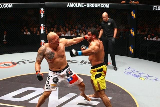 Paul Cheng swollen eye vs. Hassan in ONE FC 18 war of dragons taiwan 2014