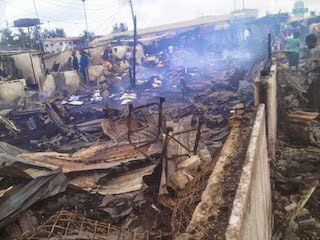 Fire destroys dozens of apartments at Police barracks in Lagos