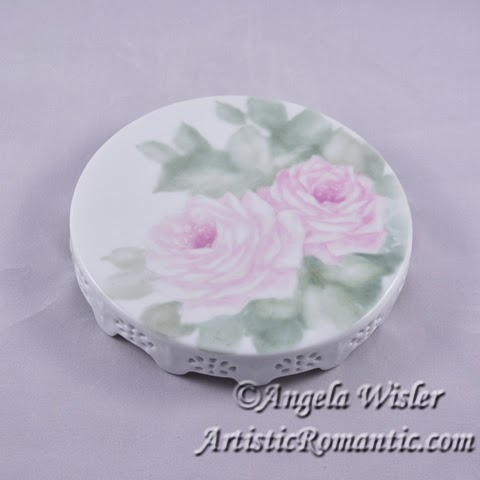 Pink Roses China Painting First Fire