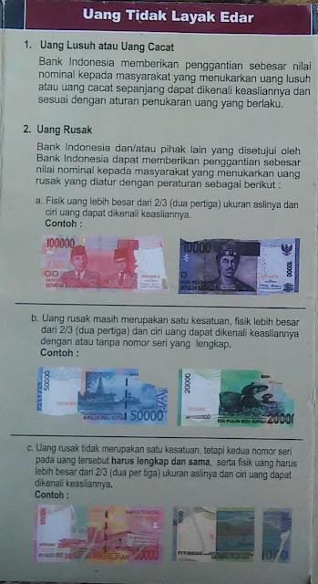 Tukar Uang Cacat, Rusak, atau Lusuh ke Bank