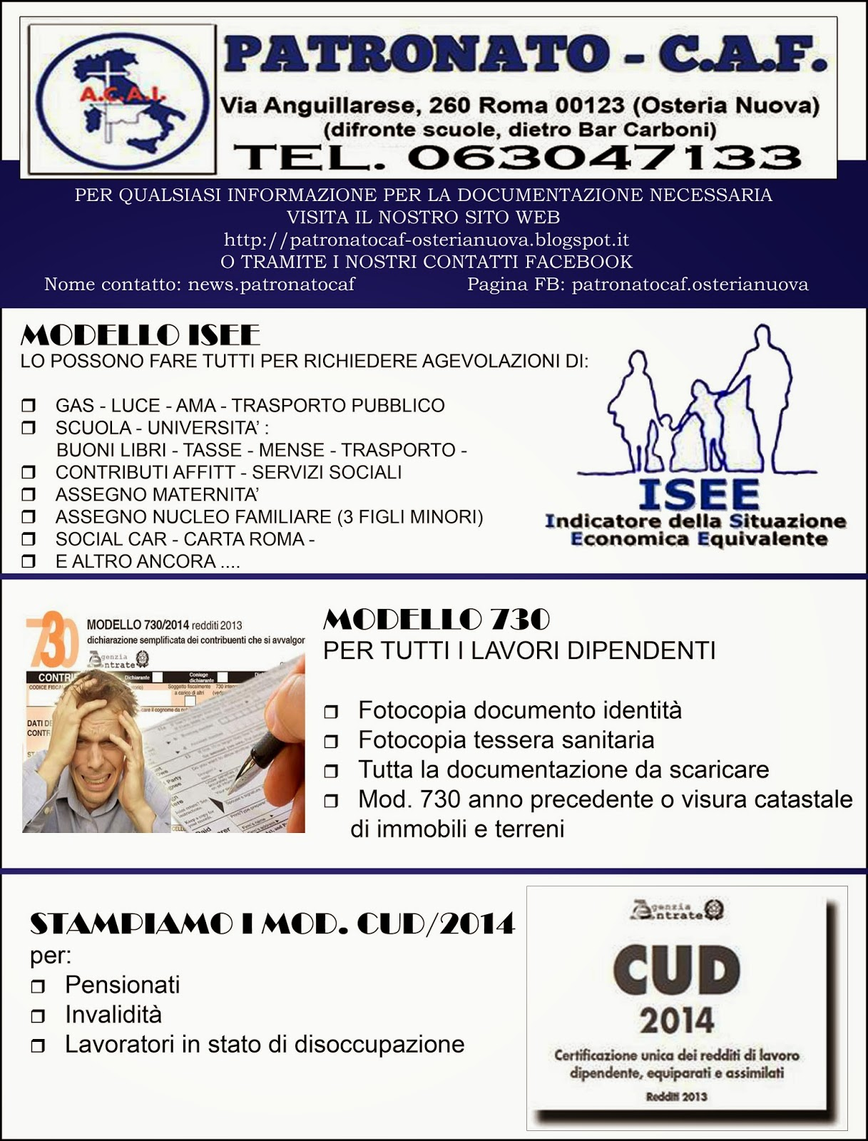 Richiesta mod isee mod 730 unico stampa cud 2014 for Documenti per 730
