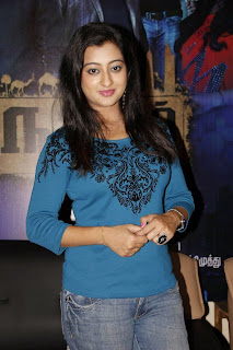 Tejaswinin in Lovely Full Sleeves T Shirt and Denim Jeans at Manal Nagaram Press Meet
