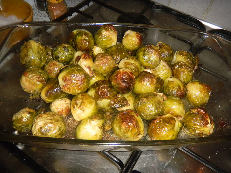 THE CELIAC HUSBAND : DUCK FAT ROASTED BRUSSEL SPROUTS.