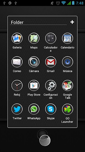 Next Launcher Theme Carbon HD android themes