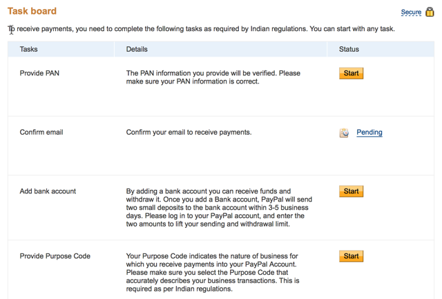 PayPal verification : eAskme