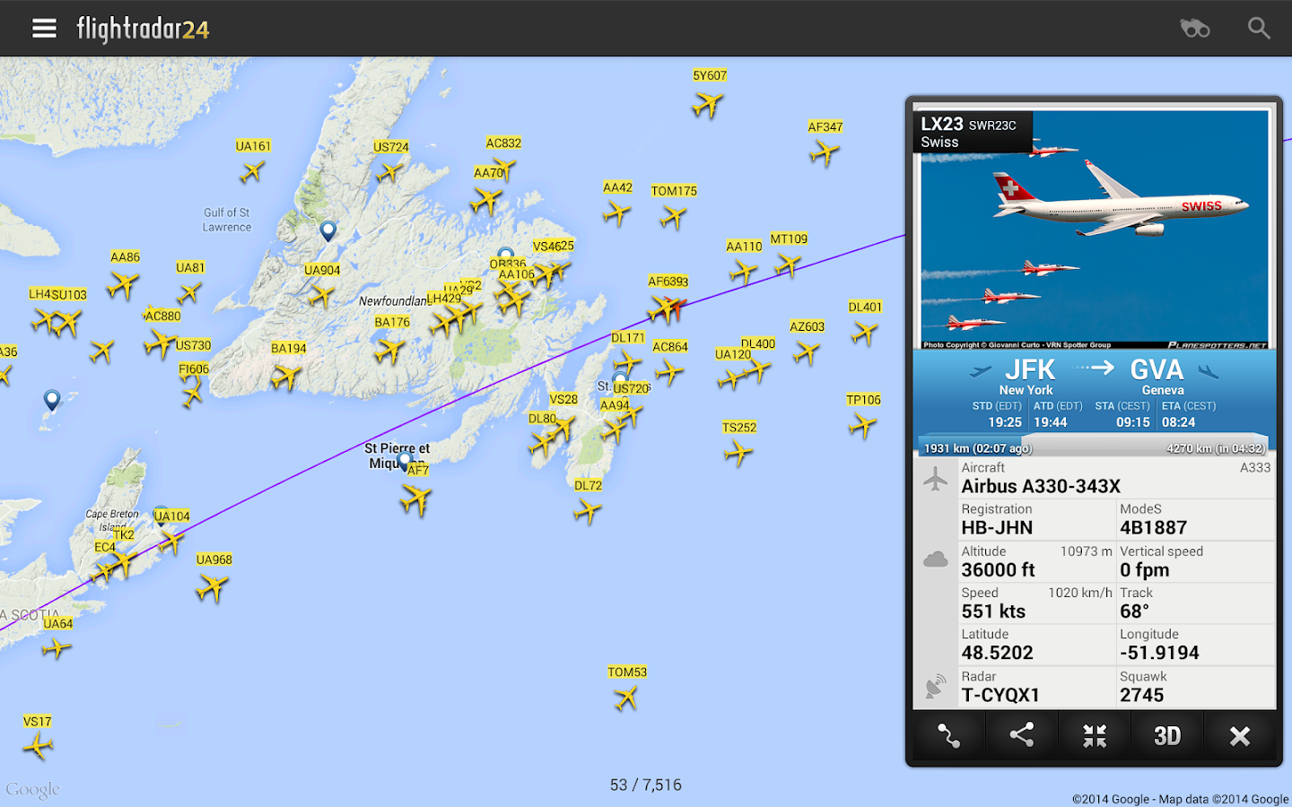 Flightradar24 Flight Tracker v6.0 Premium Patched Apk