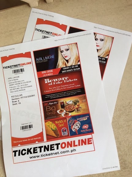 the avril lavigne tour live in manila tickets