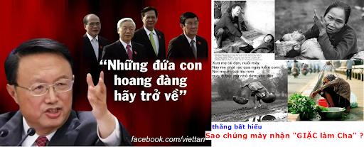 """VC: """"thằng Con BẤT HIẾU"""" của mẹ VN lại trở thành đứa """"CON HOANG"""" của Tàu Cộng"""