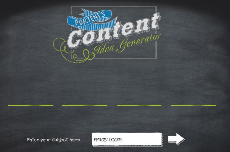Portent Content Idea Generator : EPB
