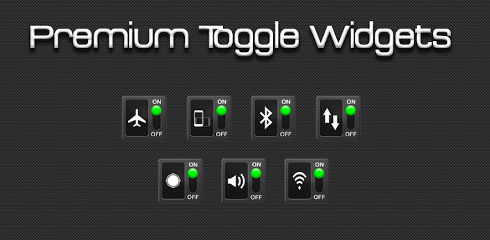 Premium Toggle Widgets Apk v1.0.4