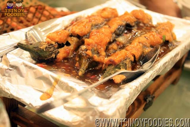 stuffed eggplant with japanese sauce