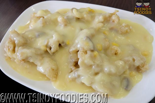 fish fillet cream corn sauce