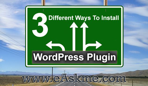 install WordPress Plugin : eAskme