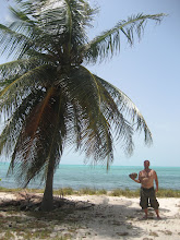 Me and a coconut in Halfmoon Caye