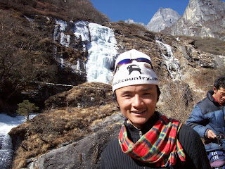 Sherpa in Nepal sports the Backcountry.com Logo hat