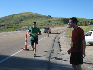 Team Backcountry.com Runner Kendall Card and Ben Wheeler in the Wasatch Back Relay Race