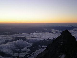Sunrise on Mount Rainier - Little Tahoma in the foreground