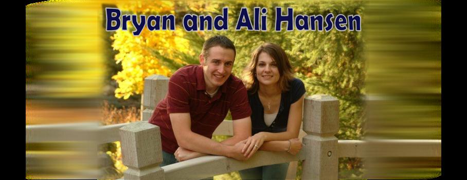 Bryan and Ali Hansen