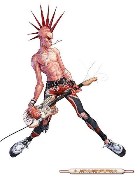 dibujo punk: