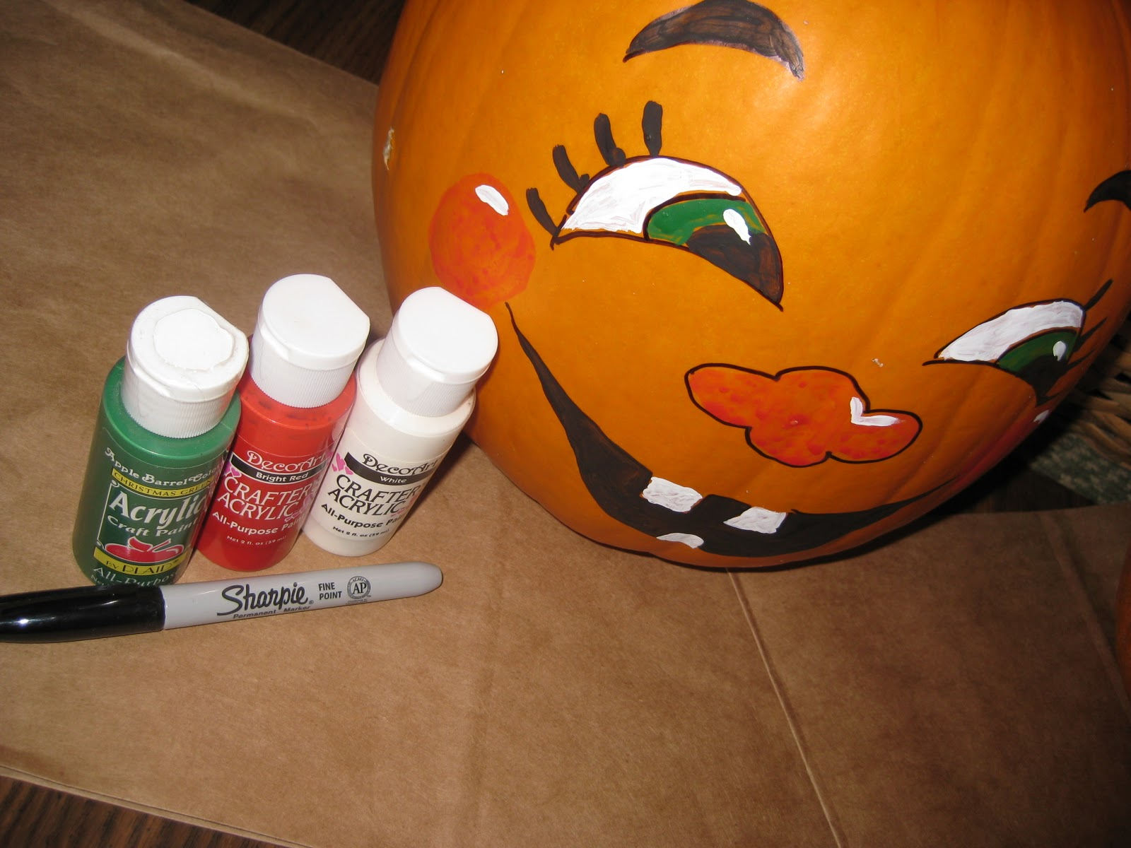 Bits Pieces This That Painted Pumpkin Faces