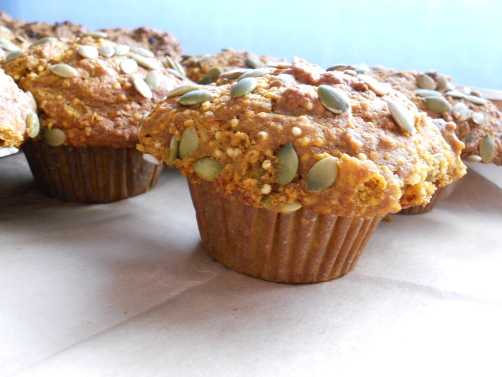 Snacking Squirrel: Pumpkin Millet Muffins