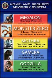 Esté atento a los avisos de ataques de monstruos gigantes. Esta página vela por su seguridad.