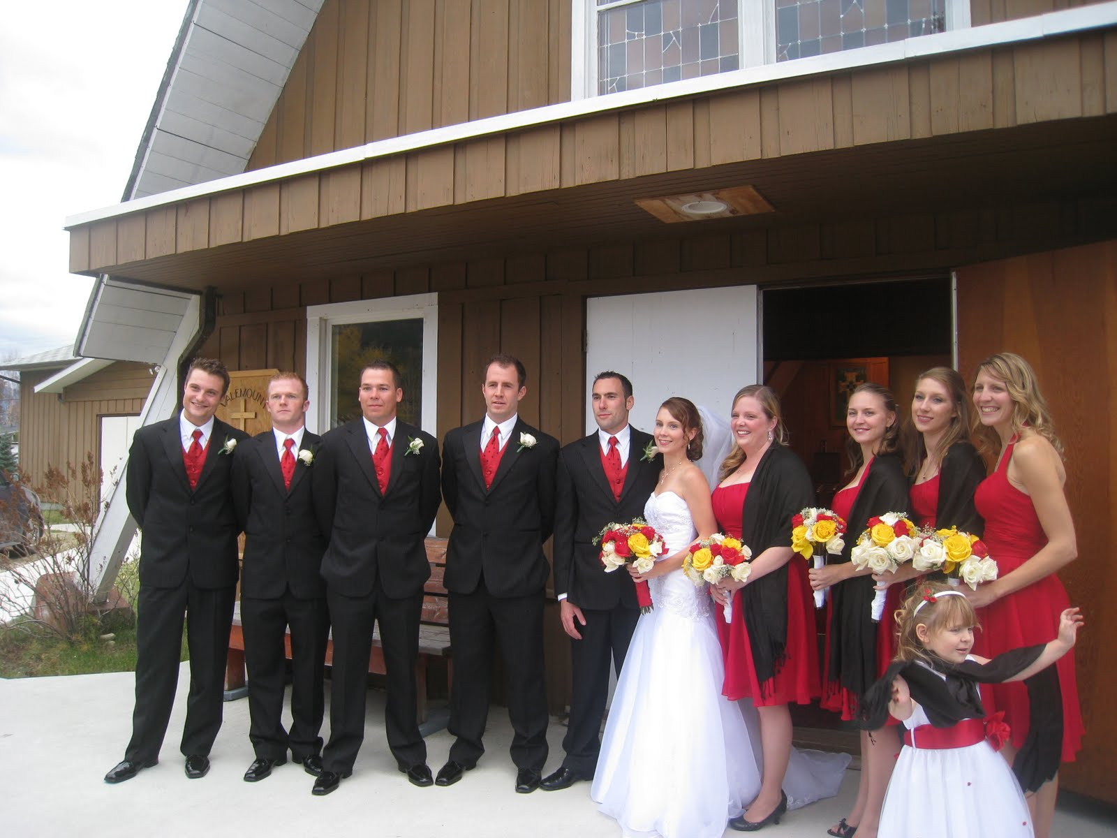 The Colored Theme For This Wedding Reflected Deep Reds