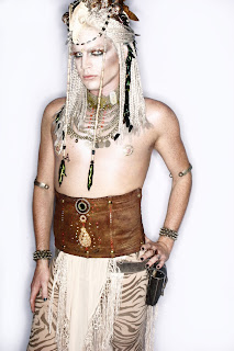 Adam Lambert white Glamazonian ice queen Halloween costume