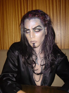Adam Lambert Halloween vampire