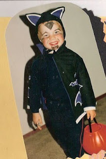Adam Lambert Halloween child vampire with pumpkin